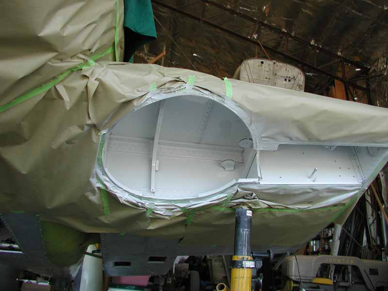 Swift N80919 wheelwell being painted.
