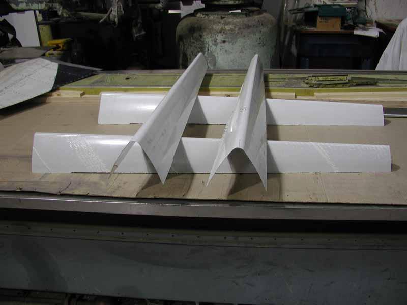 Globe Swift horizontal stabilizer leading edges.