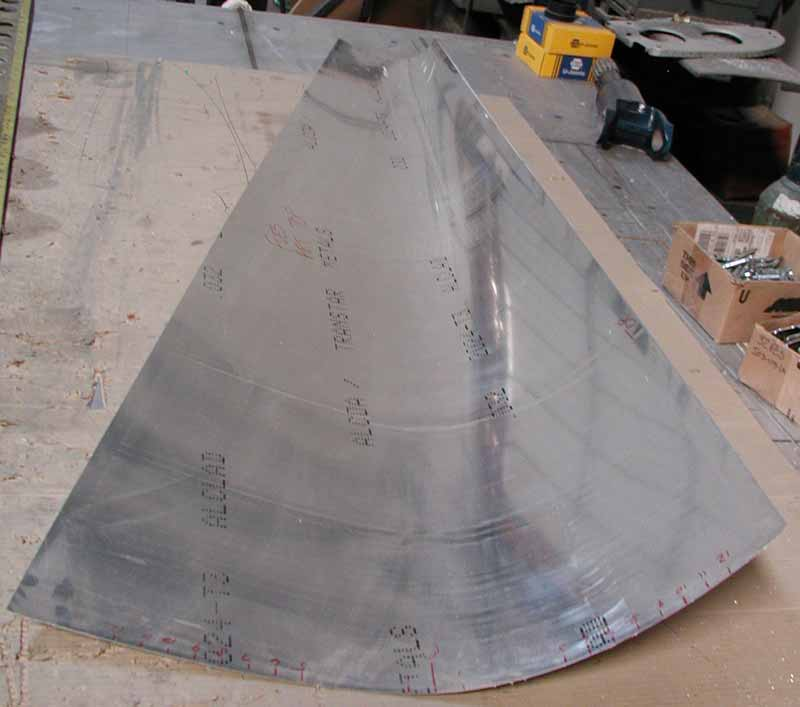 Swift top-aft fuselage skin.