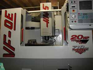 Haas milling machine.